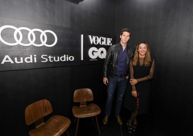 Dominique Oliver e Camila Garcia no Audi Studio (Foto: Marco Estrella)