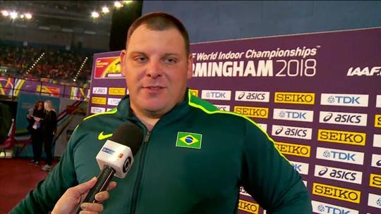 Darlan Romani comenta quarto lugar no arremesso de peso pelo Mundial Indoor de Atletismo
