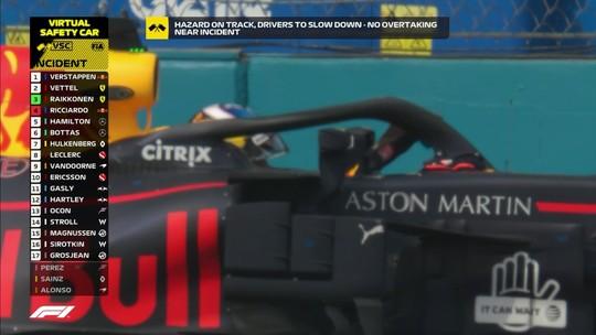 """Frustrado com quantidade de abandonos, Ricciardo diz que tem levado """"socos"""" em 2018"""