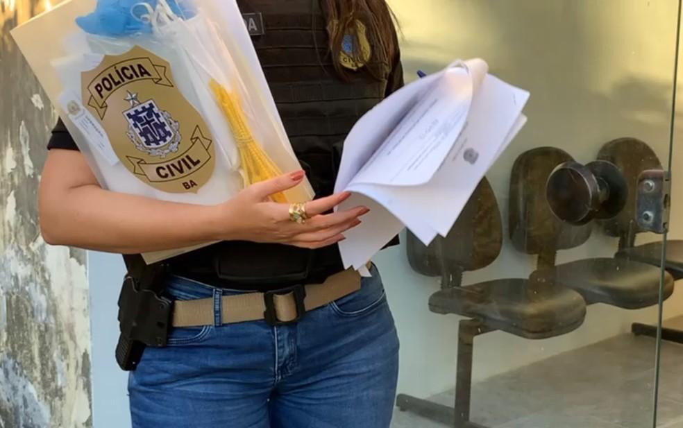 Polícia cumpre mandados de busca e apreensão em operação contra fraudes em licitações no Detran  — Foto: Divulgação/Polícia Civil