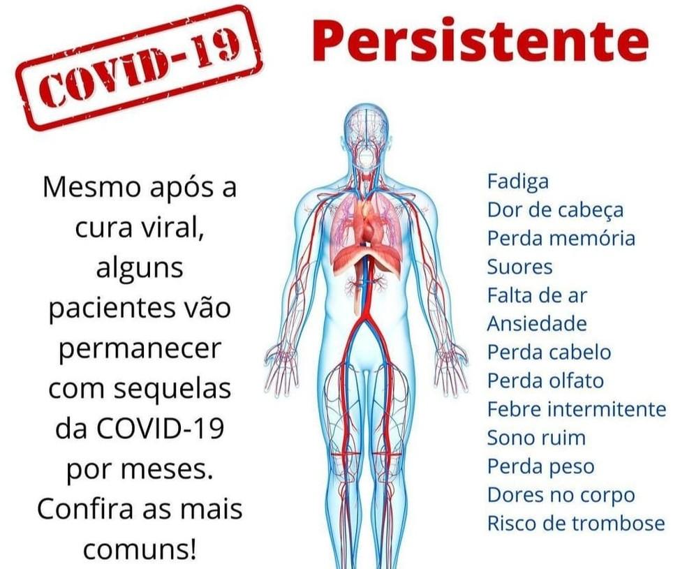 Especialista fala sobre sintomas persistentes após cura da Covid — Foto: Redes Sociais/Reprodução