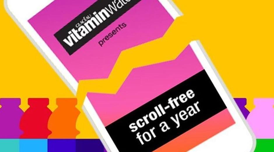 Campanha da Vitaminwater ofereceu US$ 100 mil para quem ficar um ano sem usar o celular. (Foto: Divulgação)