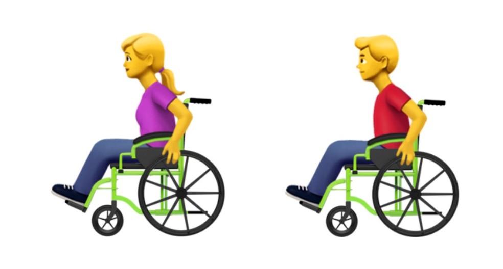 Pessoa em cadeira de rodas manual — Foto: Divulgação/Emojipedia