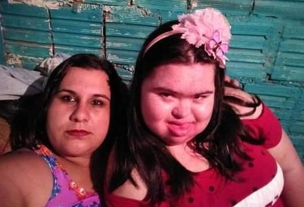 """Cunhada diz que jovem com Down era o """"centro da família"""" em Taquarivaí — Foto: Arquivo pessoal/Maria Angélica Santos Oliveira"""