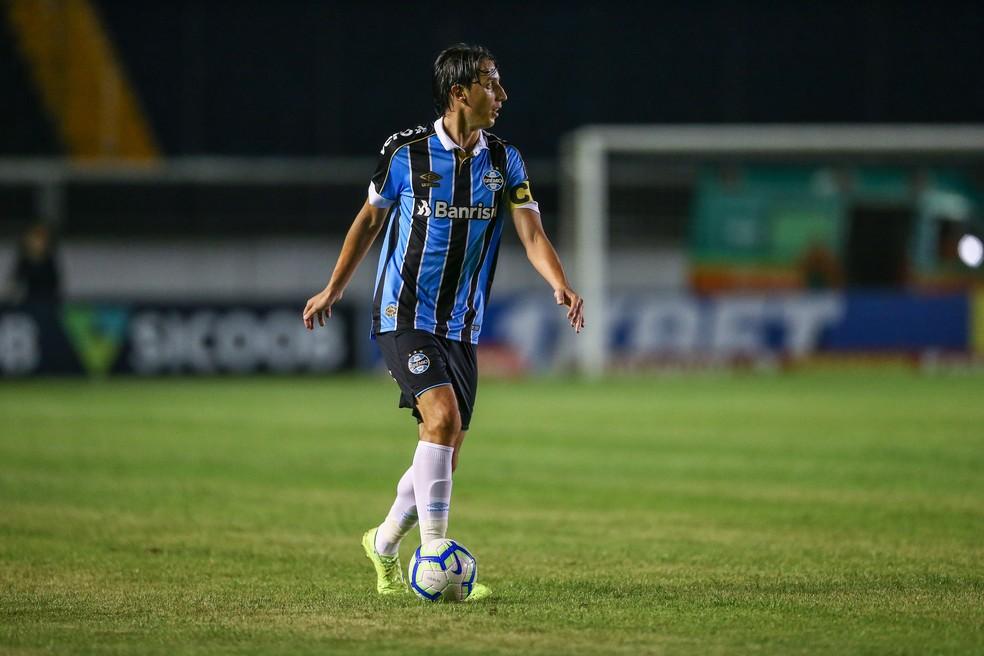 Geromel voltou a atuar após um mês — Foto: Lucas Uebel/Grêmio/Divulgação