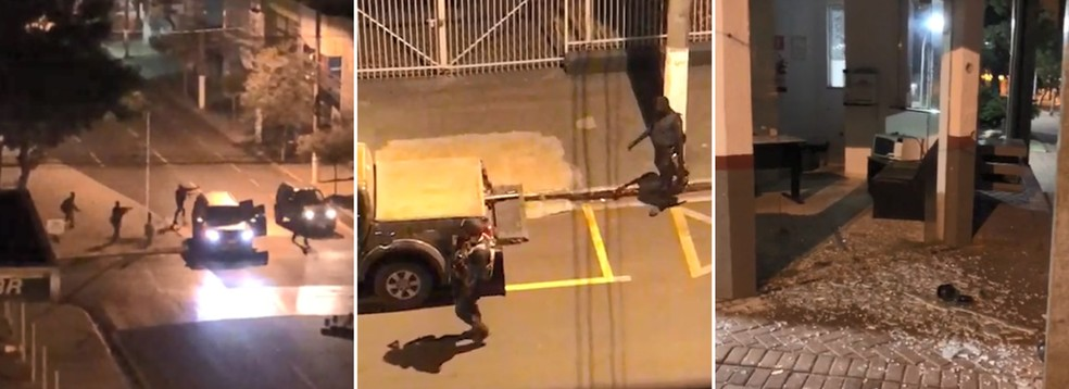 Bandidos levaram pânico a moradores de Ourinhos na madrugada deste sábado (2) — Foto: Reprodução
