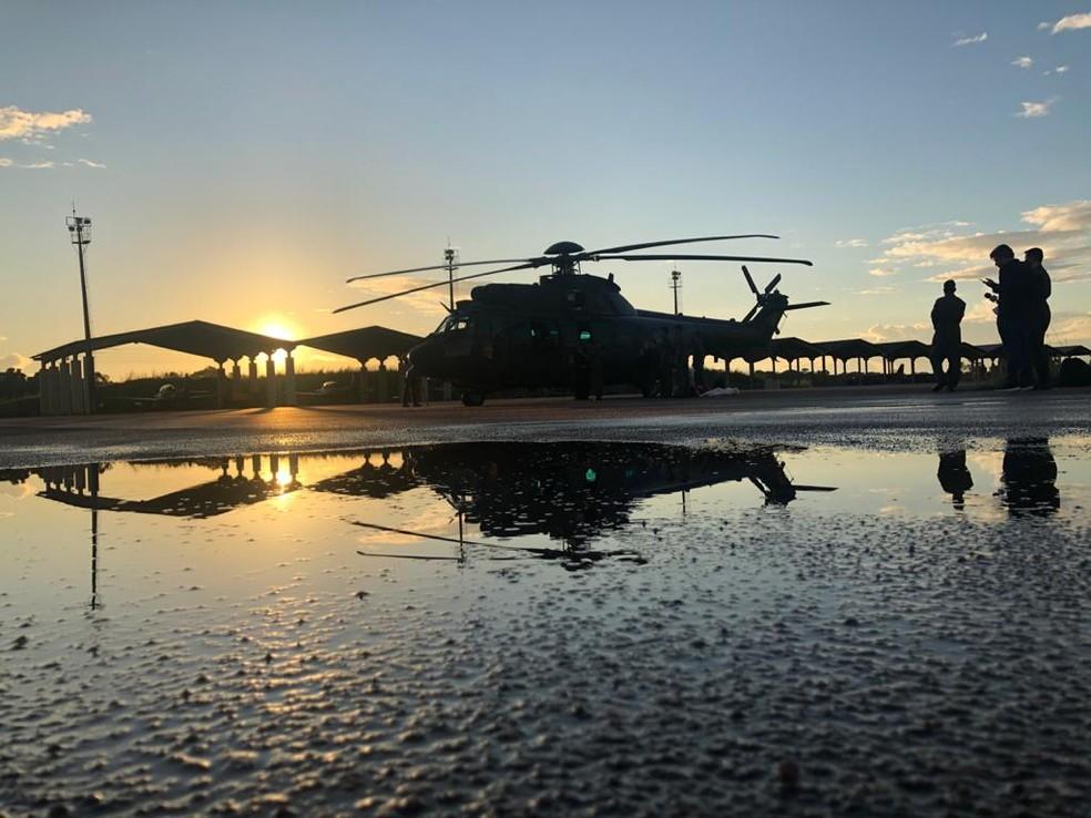 Equipes saíram na segunda-feira (11) com destino à Flona Jacundá, em Porto Velho.  — Foto: Divulgação/Exército Brasileiro