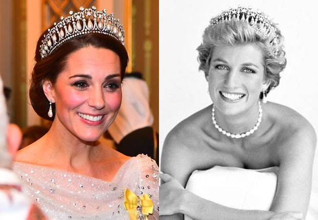 Kate Middleton e a sogra, Lady Di (Foto: Getty Images eBritish Vogue/Patrick Demarchelier)