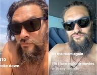 Astro de 'Aquaman' fica sem camisa em vídeo de 'perrengue' com calorão de 40 graus e carro quebrado na beira da estrada