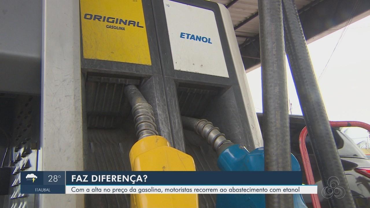Com alta na gasolina e diesel, motoristas discutem vantagem de abastecer com álcool