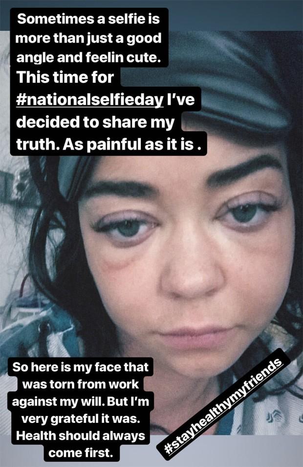Sarah Hyland em internação (Foto: Reprodução/Instagram)