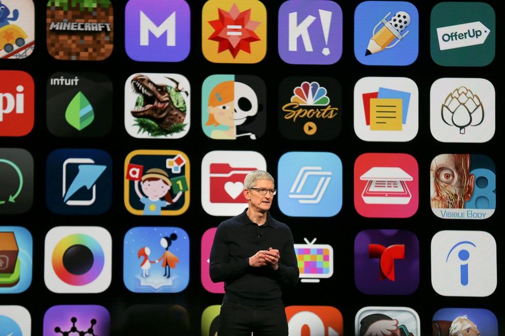 Tim Cook, presidente da Apple — Foto: Elijah Nouvelage/Reuters