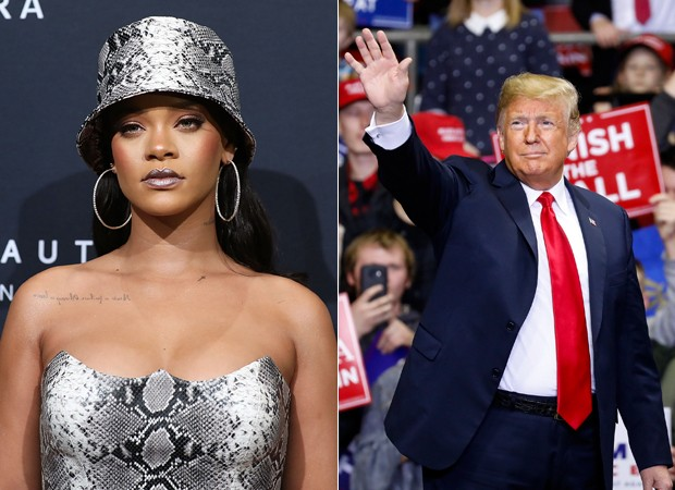 Rihanna e Donald Trump (Foto: Getty Images)