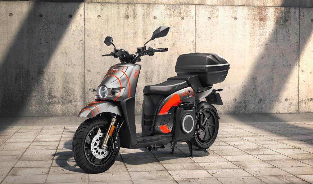Seat Mó eScooter em sua versão d e compartilhamento — Foto: Divulgação