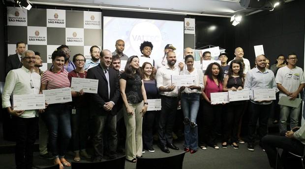 Os escolhidos do projeto Vai Tec - Programa de Valorização de Iniciativas Tecnológicas (Foto: Heloisa Ballarini / Secom)