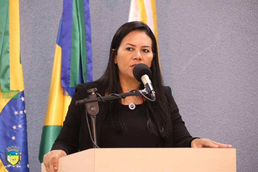 Vereadora Maria Simões (PR) assume prefeitura de Cacoal.  — Foto: Reprodução/Facebook