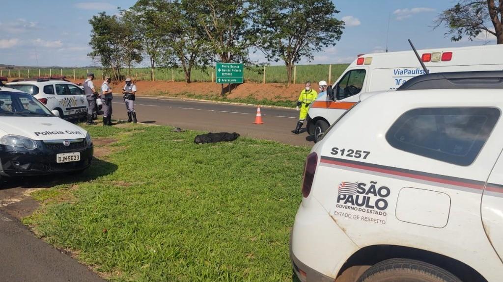 Idoso morre atropelado por caminhão na Rodovia SP-255 em distrito de Boa Esperança do Sul