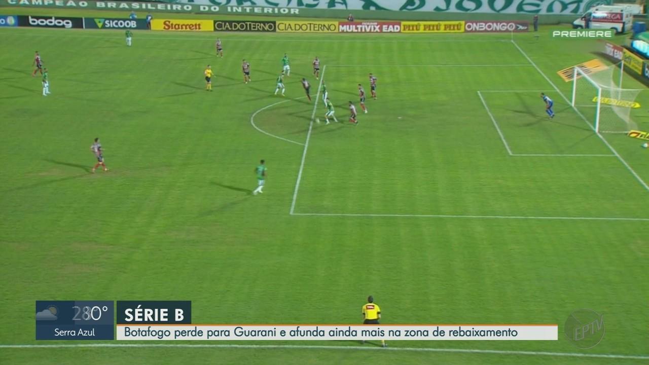 Botafogo-SP perde para o Guarani pela Série B do Campeonato Brasileiro