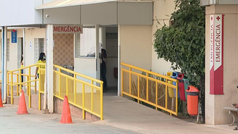 Hospital São Francisco, em Ceilândia no DF — Foto: TV Globo/Reprodução