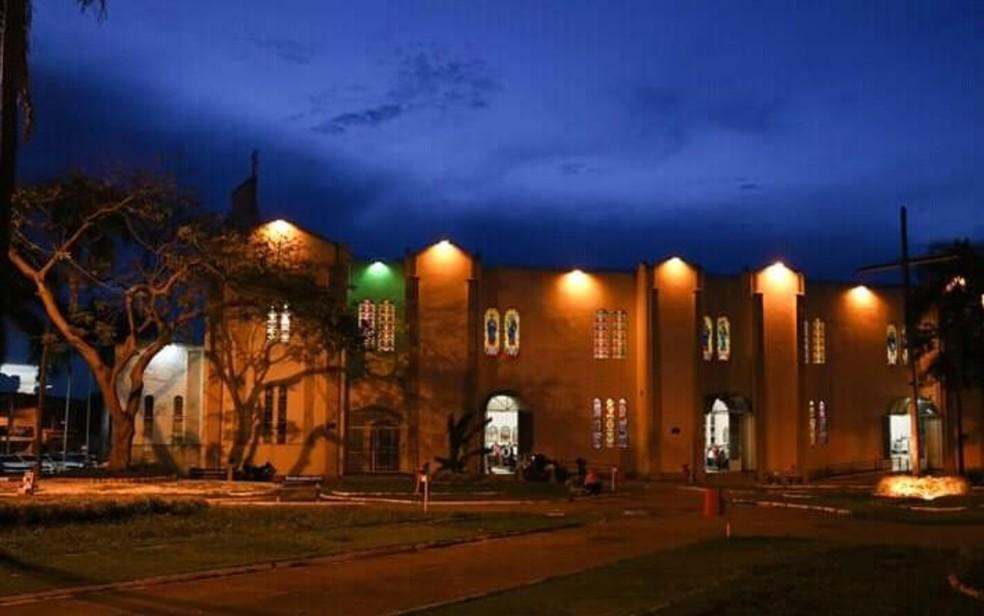 Igreja Matriz de Campinas em Goiânia — Foto: Reprodução/Matriz de Campinas