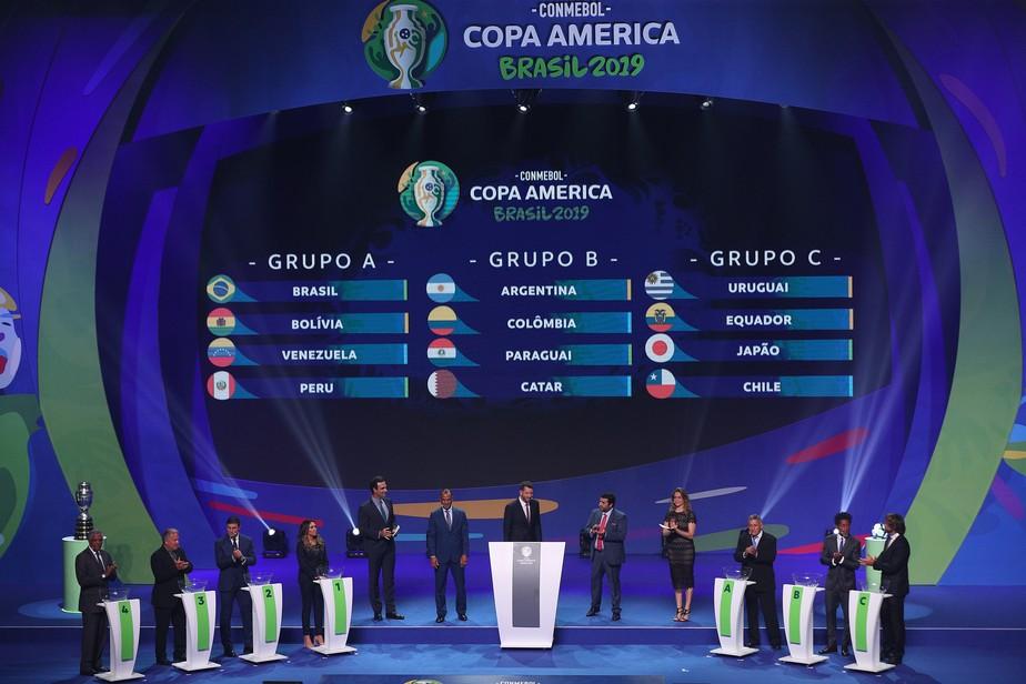 Brasil terá grupo com Peru, Venezuela e Bolívia na Copa América