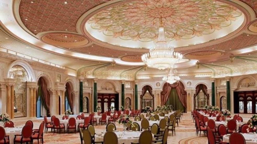 O salão B do hotel Ritz-Carlton em Riad (Foto: Carlton-Ritz Riad/Web/Reprodução/BBC)