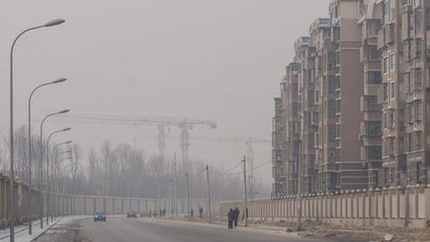 Poluição na China (Foto: Reprodução Agência Ansa Brasil/EPA)