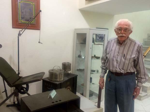 Ex-pracinha Israel Rosenthal,94 anos, atuou como dentista na Segunda Guerra (Foto: Káthia Mello/G1 Rio)
