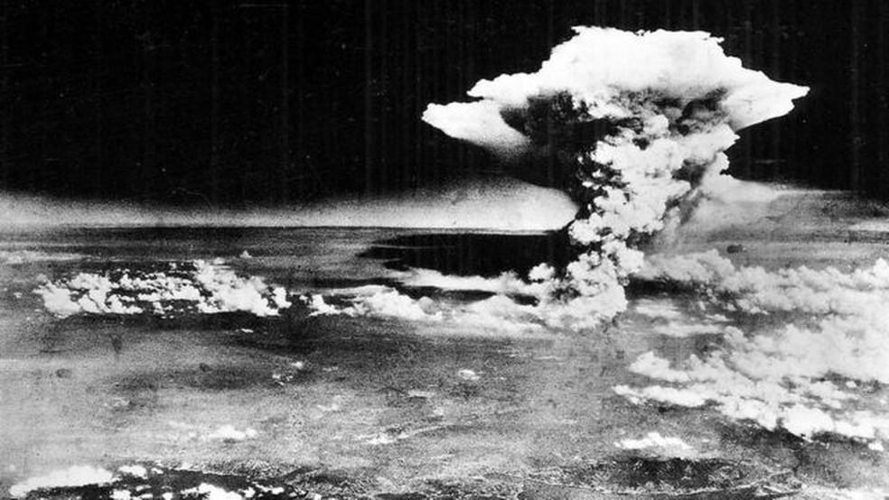 Em 6 e 9 de agosto de 1945, os Estados Unidos lançaram duas bombas atômicas sobre Hiroshima e Nagasaki, no Japão — Foto: Getty Images via BBC