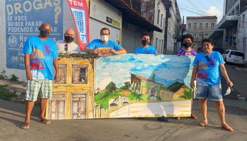 Grupo Urban Sketchers retrata pontos históricos de São Luís presentes no Poema Sujo, do maranhense Ferreira Gullar — Foto: Divulgação