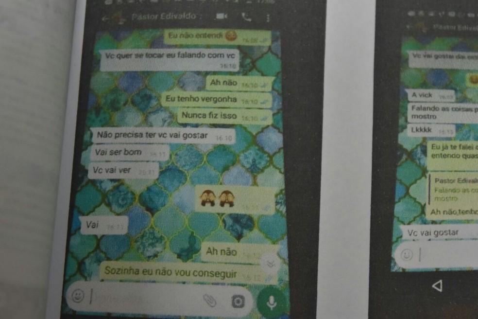 Pastor assediava garotas por mensagens de celular (Foto: Divulgação/Polícia Civil)