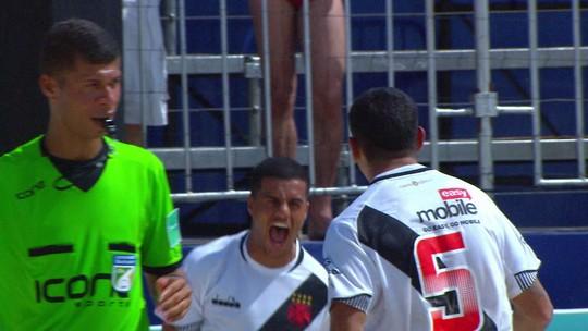 Goleiro brilha nos pênaltis, Vasco vence o Flamengo e é campeão do Brasileiro de futebol de areia