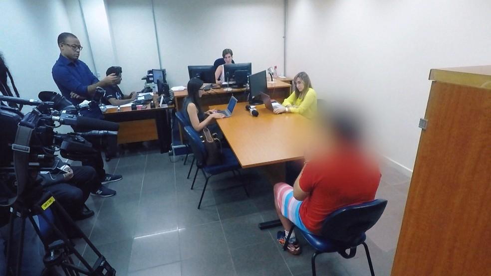 Audiência de custódia no Fórum Criminal da Barra Funda