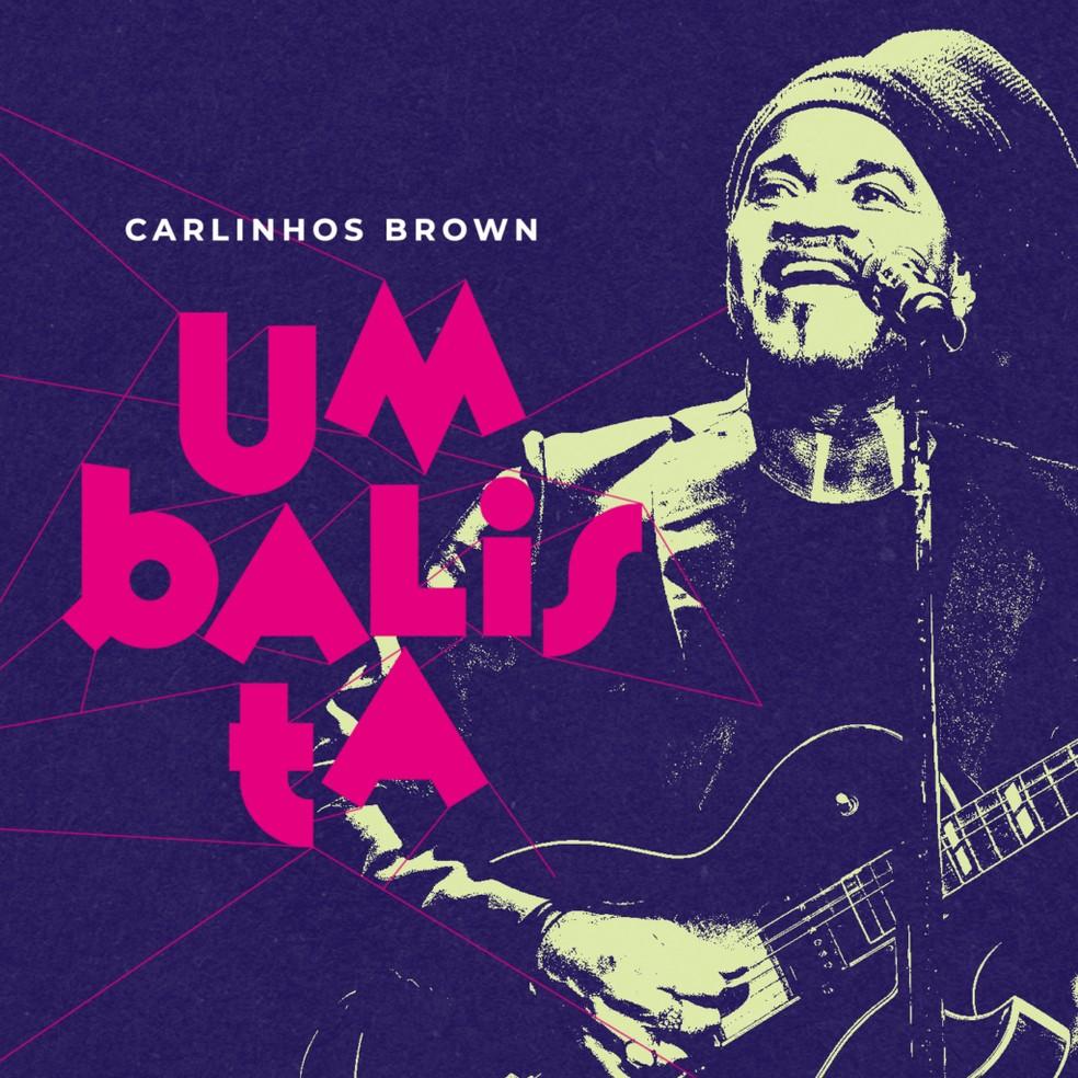 Capa do álbum 'Umbalista', de Carlinhos Brown — Foto: Caio Gallucci com arte de Ian Thommas