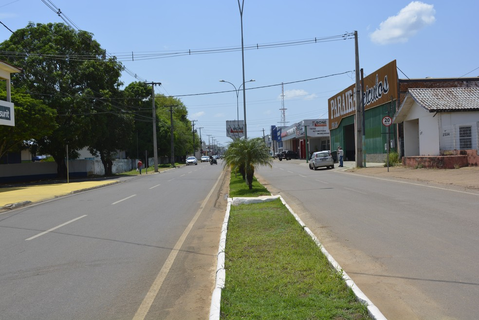 Atual Avenida Jamari em Ariquemes (Foto: Diêgo Holanda/G1)