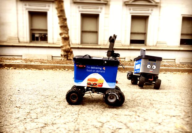 KiwiBots, robôs que entregam comida no campus de Berkeley (Foto: Divulgação/Reprodução Facebook Kiwi Campus)