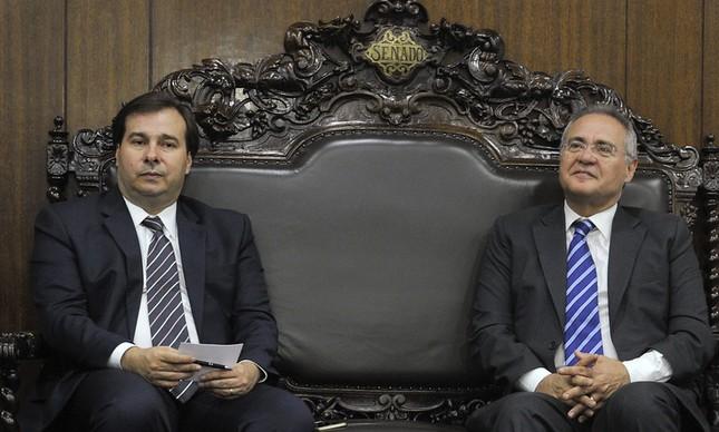 Rodrigo Maia e Renan Calheiros