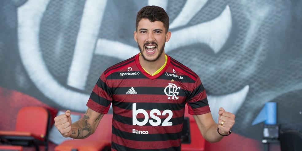 Flamengo acredita que poderá contar com Gustavo Henrique na final da Supercopa — Foto: Alexandre Vidal / Flamengo
