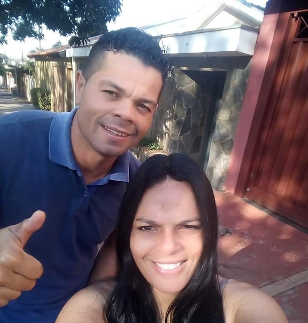Flávio Donizete, ex-São Paulo, e a esposa Cibele — Foto: Arquivo pessoal