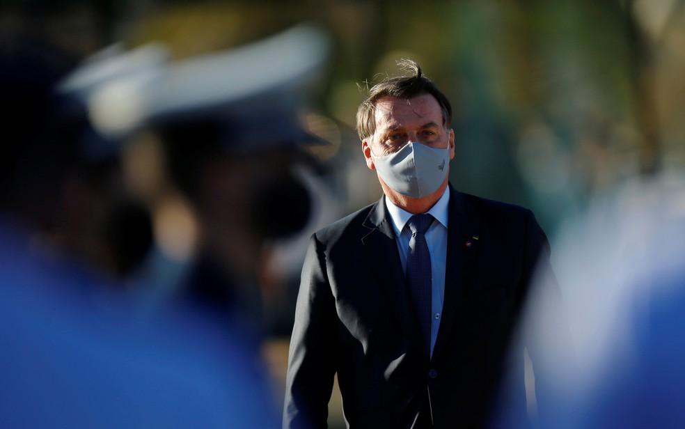 O presidente Jair Bolsonaro durante compromisso em Brasília no último dia 23 — Foto: Adriano Machado/Reuters