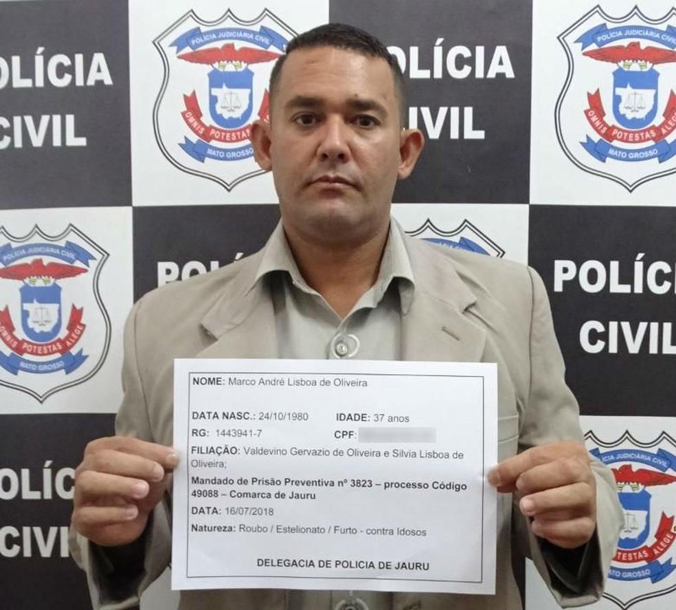 Marcos André deve responder por furto, roubo e estelionato (Foto: Polícia Civil/Divulgação)