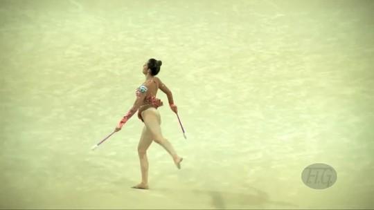 Em Pesaro, Natália Gaudio iguala seu melhor resultado em um Mundial de GR