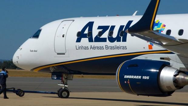 Avião da companhia aérea Azul Linhas Aéreas (Foto: Reprodução/Facebook)