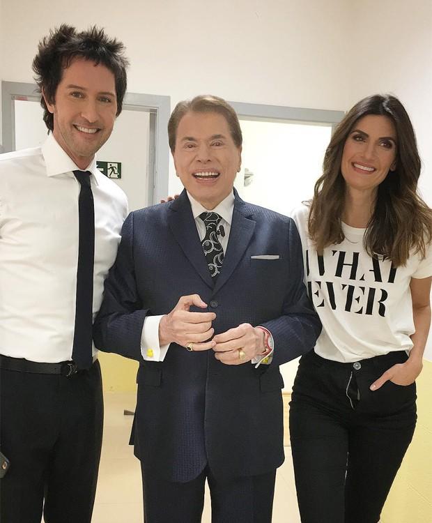 Arlindo Grund, Silvio Santos e Isabella Fiorentino (Foto: Reprodução/Instagram)