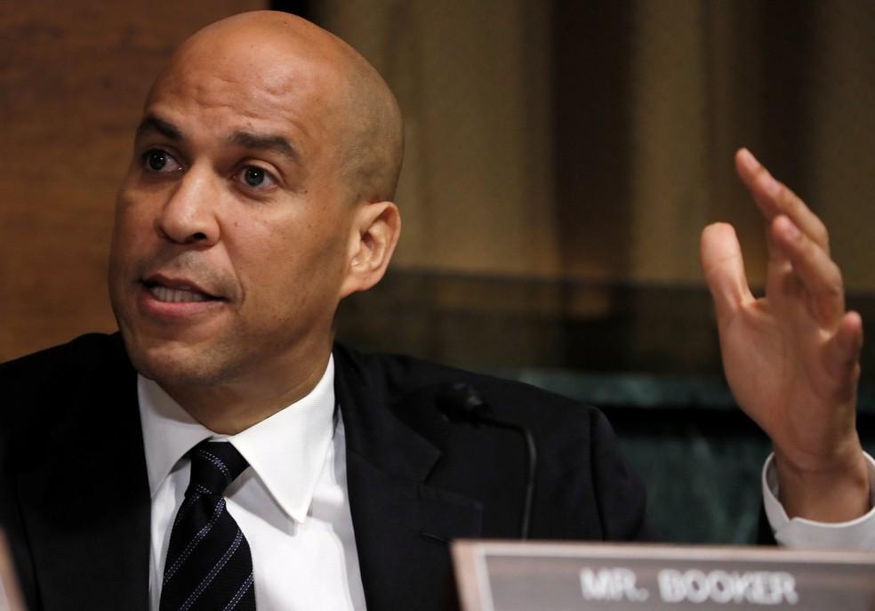 Senador democrata Cory Booker, em imagem de arquivo — Foto: Jim Bourg/Reuters