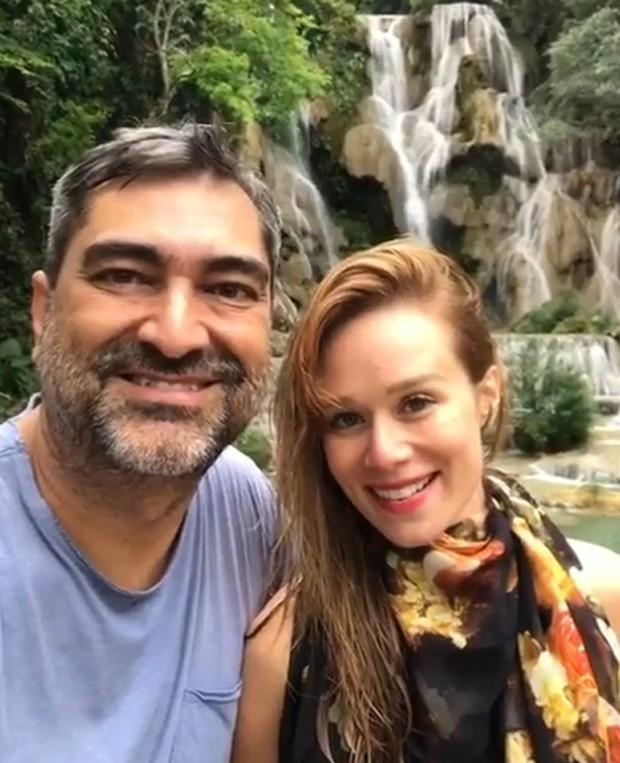 Mariana Ximenes e Zeca Camargo na Tailândia (Foto: Reprodução / Instagram)