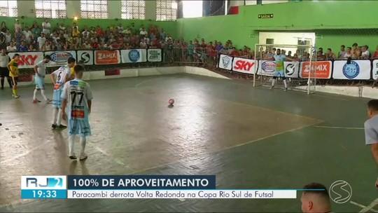 Paracambi derrota Volta Redonda na Copa Rio Sul de Futsal