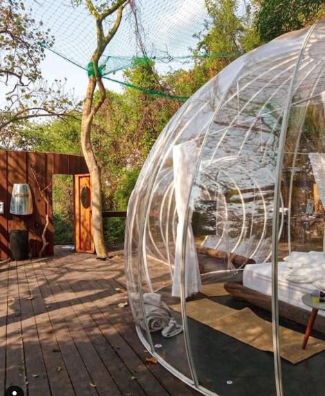 Ex-BBB Marcela MCGowan fica em cabana-bolha com diária de R$ 1600 (Foto: Reprodução/Instagram)