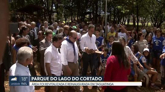 Parque do Lago do Cortado é reinaugurado em Taguatinga