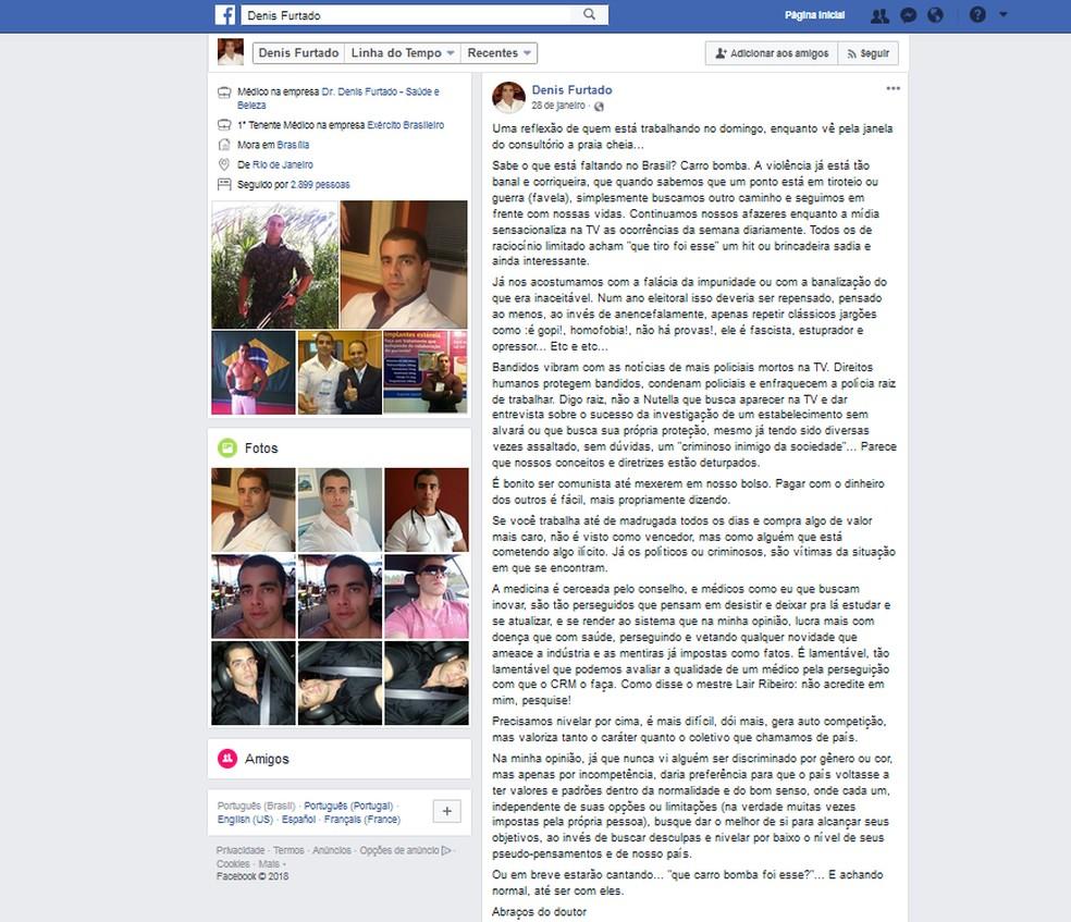 Doutor Bumbum era ativo em redes sociais, onde postava 'textões' e 'antes e depois' de pacientes (Foto: Reprodução)